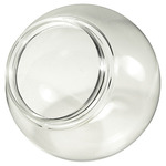 6 in. Clear Acrylic Globe - 1/2 in. Threaded Neck - 3.25 in. Neck Opening