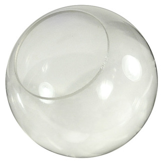 8 in. Clear Acrylic Globe - with 4 in. Neckless Opening