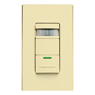 Leviton Decora ODS15-IDI - Ivory - Single Pole - Occupancy Sensor - Auto OFF/Manual ON - For Incandescent Lights