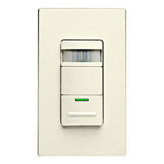 Leviton Decora ODS15-IDT - Single Pole - Passive Infrared Self-Adjusting Occupancy Sensor - 1800 Watt - Light Almond