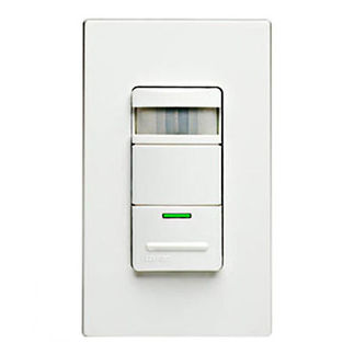 Leviton Decora ODS15-IDW - Single Pole - Passive Infrared Self-Adjusting Occupancy Sensor - 1800 Watt - White