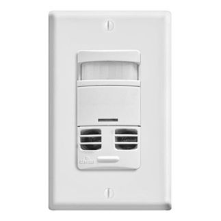 Leviton OSSMT-GDW - Single Pole - Multi-Technology Wall Switch Vacancy Sensor - No Neutral - 800 Watt - White