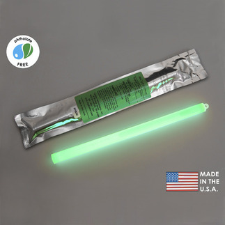 12 in. SnapLight Light Stick - Green - 12 Hours - Cyalume 9-2705101