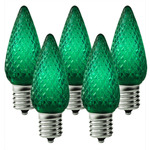(25 Pack) C9 LED - Green - Intermediate Base