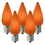 (25 Bulbs) C9 LED - Amber-Orange - Intermediate Base - Christmas Lights - Christmas Lite Co. C9-E17-ORG Replacement Light Bulbs