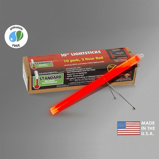 10 in. SnapLights with Bipod - Red - 2 Hours - Flare Alternative - Cyalume 9-27047