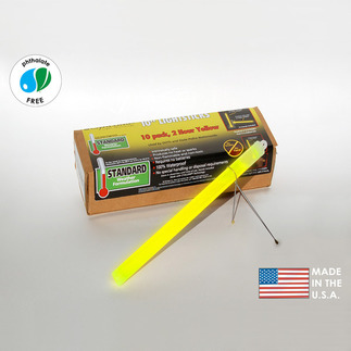 10 in. SnapLights with Bipod - Yellow - 2 Hours - Flare Alternative - Cyalume 9-27030