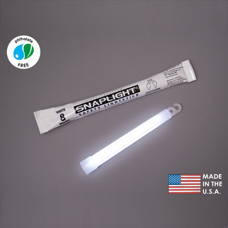 6 in. SnapLight Light Sticks - White - 8 Hours - Industrial Grade - Cyalume 9-08006