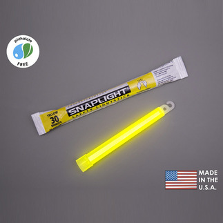 6 in. SnapLight Light Sticks - Yellow - Hi-Intensity - 30 Minutes - Industrial Grade - Cyalume 9-08010