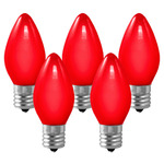 (25 Bulbs) C9 - Opaque Red - 7 Watt - Intermediate Base - Christmas Lights - Christmas Lite Co. 1007C9CR C9 Christmas Light Bulb
