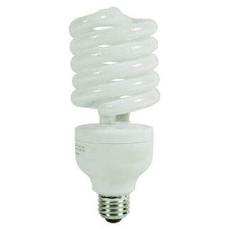 85 Watt - CFL - 350 W Equal - 2700K Warm White - Min. Start Temp. 0 Deg. F - 80 CRI - 68 Lumens per Watt - 15 Month Warranty - Global Consumer Products 0166 Screw In CFL