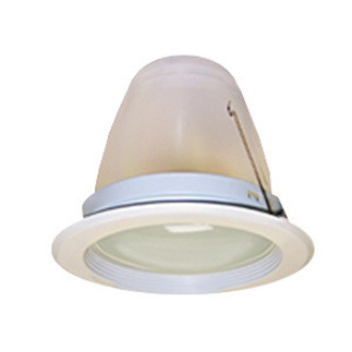 5 in. - White Baffle Chrome Reflector Trim with Frosted Dome Lens - Premium Quality Brand PTS5245W - Light Fixture