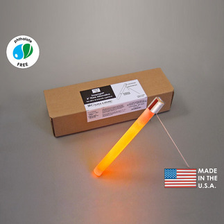8 in. SnapLights with Bipod - Ultra Orange - High Intensity - 30 Minutes - Flare Alternative - Cyalume 9-27035