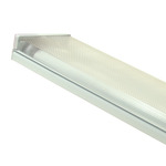 (2) Lamp F32T8 - 4 ft. - Surface Mount - Fluorescent Wrap Fixture - Prismatic Lens - 120 Volt - Premium Quality Brand 207A232 - 2 Lamp Linear Fluorescent Light Fixture
