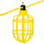 100 ft. String Light with 10 Lamp Holders and Guards - 14AWG Flat Wire