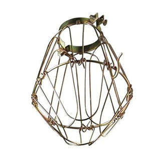 metal lamp guard heavy duty bulb cage brass. Black Bedroom Furniture Sets. Home Design Ideas