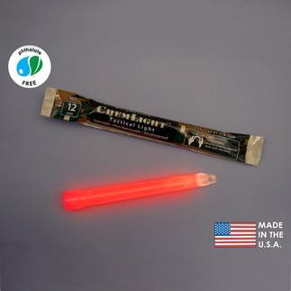 NSN 6260-01-178-5559 - 6 in. ChemLight Light Sticks - Red - 12 Hours - Military Grade - Cyalume 9-55590PF