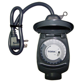 Tork 601A - 24 Hr. Mechanical Outdoor Timer - 1 Grounded Outlet - 15 Amps - 125 VAC