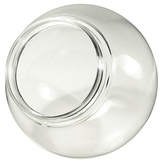 16 In Clear Acrylic Globe With 6 In Extruded Neck