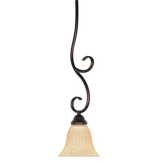 (1 Light) Mini Pendant - Copper Bronze / Hang-Straight Canopy - Nuvo Lighting 60-014