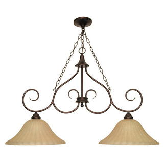 (2 Light) Trestle - Copper Bronze / Champagne Linen Washed Glass - Nuvo Lighting 60-019