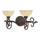 (2 Light) Vanity - Old Bronze / Tuscan Suede Glass - Nuvo Lighting 60-046