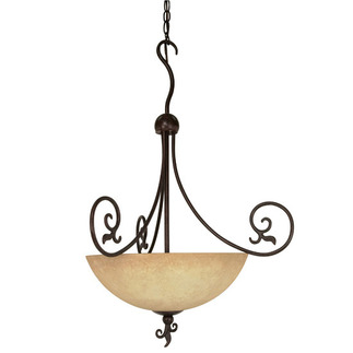 (3 Light) Pendant - Old Bronze / Tuscan Suede Glass - Nuvo Lighting 60-050