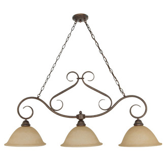 (3 Light) Trestle - Sonoma Bronze / Champagne Linen Washed Glass - Nuvo Lighting 60-1025 - Residential Light Fixture