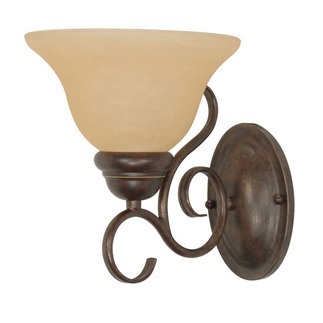 (1 Light) Wall Fixture - Sonoma Bronze / Champagne Linen Washed Glass - Nuvo Lighting 60-1032