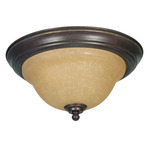 (2 Light) Flush Mount Ceiling Fixture - Sonoma Bronze / Champagne Linen Washed Glass - Nuvo Lighting 60-1038