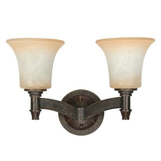 (2 Light) Wall - Vanity - Golden Umber / Burnt Sienna Glass - Nuvo Lighting 60-1048 - residential light fixture