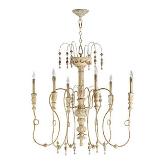 Quorum 6206-6-70 - Large Chandelier - 6 Light - Persian White