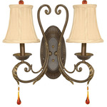 (2 Light) Wall Sconce - Dune Gold / Fabric - Nuvo Lighting 60-1137
