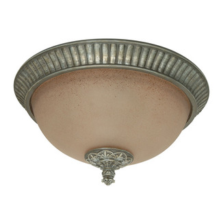 (3 Light) Flush Mount Ceiling Fixture - Gold Coast / Amethyst Glass - Nuvo Lighting 60-1143