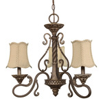 (3 Light) Chandelier - Gold Coast / Fabric Shades - Nuvo Lighting 60-1145