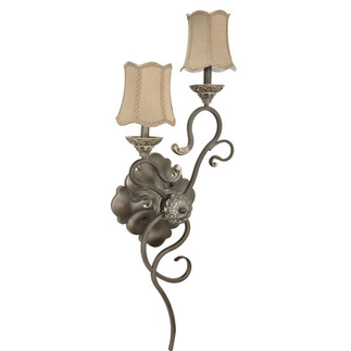 (2 Light) Right Hand Wall Sconce - Gold Coast / Fabric - Nuvo Lighting 60-1149
