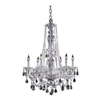 Quorum 664-6-514 - Chandelier - 6 Light - Chrome