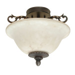 (2 Light) Semi-Flush Ceiling Fixture - Garnet Bronze / Marbleized Glass - Nuvo Lighting 60-1158