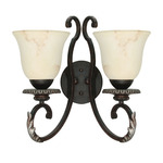 (2 Light) Vanity - Garnet Bronze / Marbleized Glass - Nuvo Lighting 60-1162