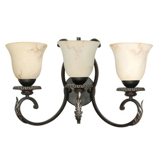 (3 Light) Vanity - Garnet Bronze / Marbleized Glass - Nuvo Lighting 60-1163
