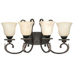 (4 Light) Vanity - Garnet Bronze / Marbleized Glass - Nuvo Lighting 60-1164