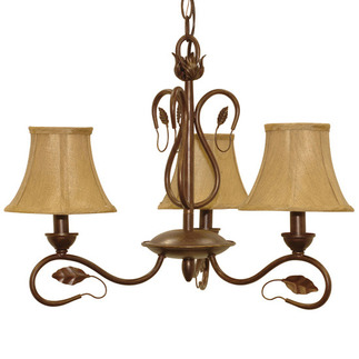 (3 Light) Chandelier - Sonoma Bronze / Fabric Shades - Nuvo Lighting 60-1167 - Residential Light Fixture