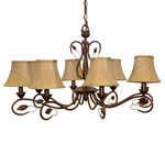 (8 Light) Chandelier - Sonoma Bronze / Fabric Shades - Nuvo Lighting 60-1169