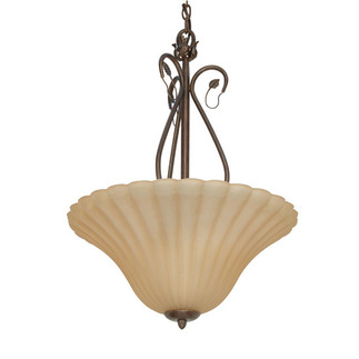 (3 Light) Pendant - Sonoma Bronze / Champagne Linen Washed Glass - Nuvo Lighting 60-1172