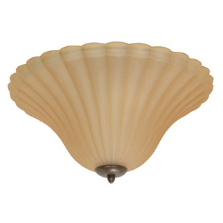 (3 Light) Flush Mount Ceiling Fixture - Sonoma Bronze / Champagne Linen Washed Glass - Nuvo Lighting 60-1174