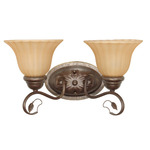 (2 Light) Vanity - Sonoma Bronze / Champagne Linen Washed Glass - Nuvo Lighting 60-1176