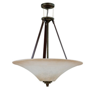 (4 Light) Pendant - Golden Umber / Burnt Sienna Glass - Nuvo Lighting 60-1182