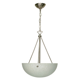 (3 Light) Pendant - Brushed Nickel / Water Spot Glass - Nuvo Lighting 60-133