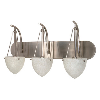 (3 Light) Vanity - Brushed Nickel / Water Spot Glass - Nuvo Lighting 60-136