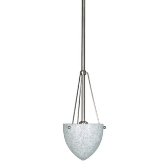 (1 Light) Mini Pendant - Brushed Nickel / Water Spot Glass - Nuvo Lighting 60-138